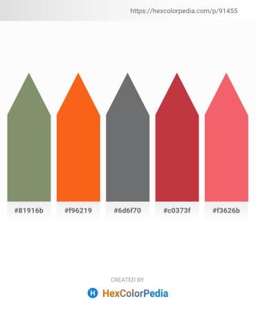 Palette image download - Dark Sea Green – Orange Red – Slate Gray – Brown – Salmon