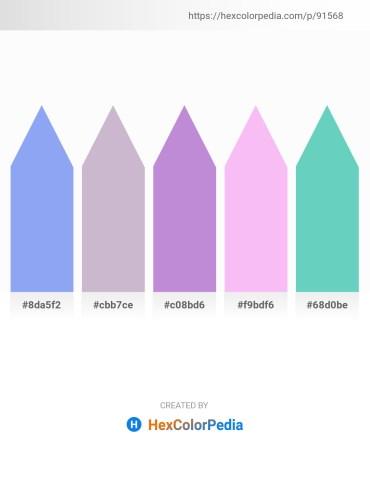 Palette image download - Cornflower Blue – Light Steel Blue – Medium Purple – Violet – Medium Aquamarine