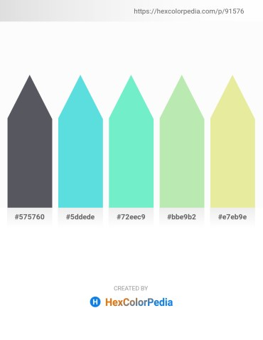 Palette image download - Slate Gray – Turquoise – Tan – Pale Goldenrod – Pale Goldenrod