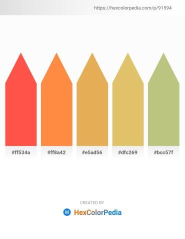 Palette image download - Tomato – Coral – Dark Salmon – Burlywood – Dark Khaki