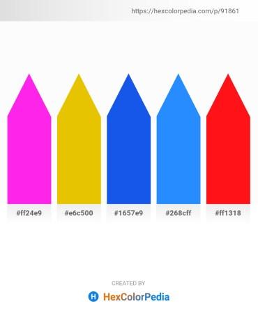Palette image download - Magenta – Gold – Royal Blue – Dodger Blue – Red