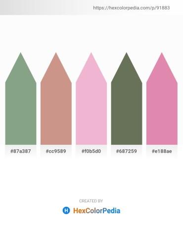 Palette image download - Dark Sea Green – Tan – Violet – Dim Gray – Pale Violet Red