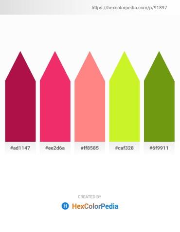 Palette image download - Crimson – Crimson – Light Salmon – Green Yellow – Olive Drab