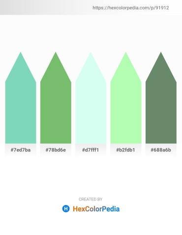 Palette image download - Medium Aquamarine – Dark Sea Green – Light Cyan – Pale Green – Cadet Blue