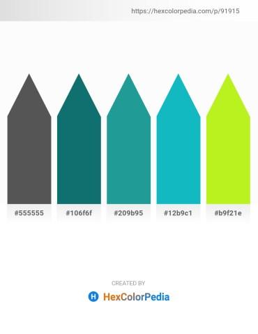 Palette image download - Dim Gray – Teal – Light Sea Green – Light Sea Green – Green Yellow