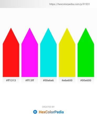 Palette image download - Red – Magenta – Dark Turquoise – Gold – Black