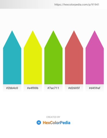 Palette image download - Light Sea Green – Yellow – Lawn Green – Indian Red – Pale Violet Red