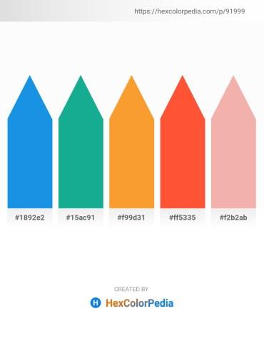 Palette image download - Royal Blue – Light Sea Green – Coral – Tomato – Light Steel Blue