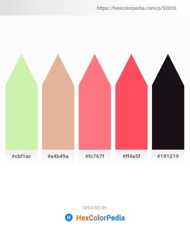 Palette image download - Pale Goldenrod – Burlywood – Salmon – Tomato – Black