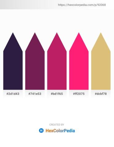 Palette image download - Midnight Blue – Peru – Medium Violet Red – Deep Pink – Burlywood