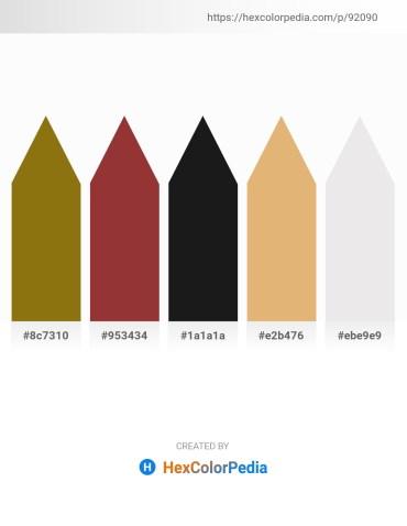 Palette image download - Gray – Brown – Black – Burlywood – White Smoke
