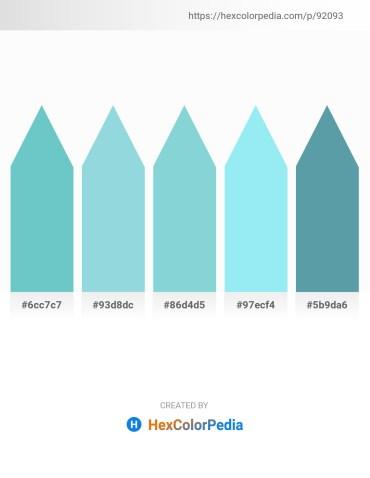 Palette image download - Medium Aquamarine – Light Blue – Light Blue – Sky Blue – Cadet Blue