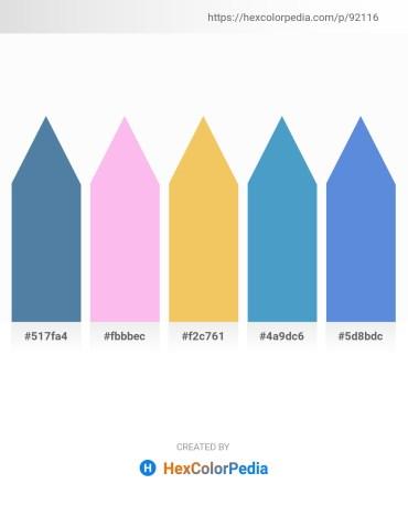 Palette image download - Steel Blue – Pink – Sandy Brown – Steel Blue – Royal Blue