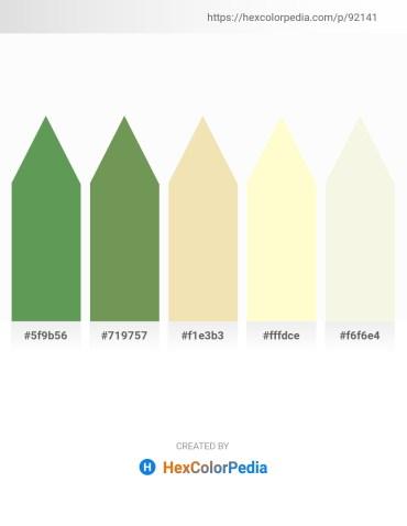 Palette image download - Medium Sea Green – Dark Olive Green – Pale Goldenrod – Lemon Chiffon – Beige