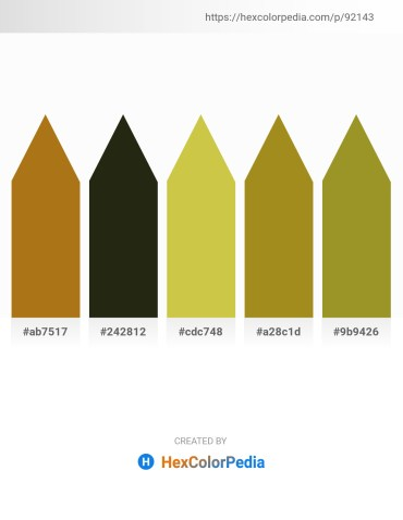 Palette image download - Dark Goldenrod – Turquoise – Yellow Green – Olive Drab – Olive Drab