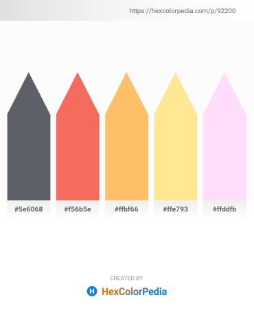 Palette image download - Slate Gray – Salmon – Light Salmon – Navajo White – Lavender Blush
