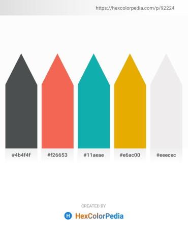 Palette image download - Dark Slate Gray – Tomato – Light Sea Green – Orange – White Smoke