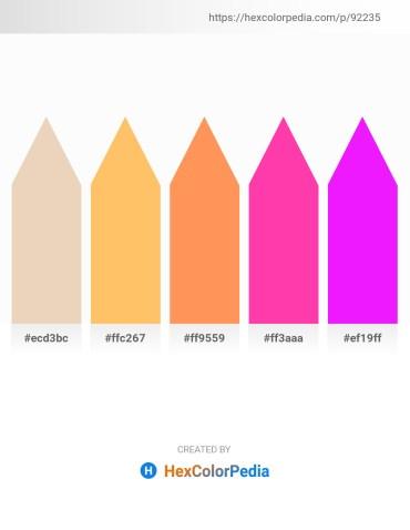 Palette image download - Pale Goldenrod – Light Salmon – Coral – Deep Pink – Dark Sea Green