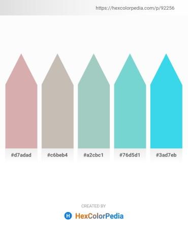 Palette image download - Tan – Silver – Dark Sea Green – Medium Aquamarine – Turquoise