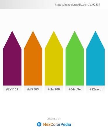 Palette image download - Purple – Dark Orange – Gold – Lime Green – Light Sea Green