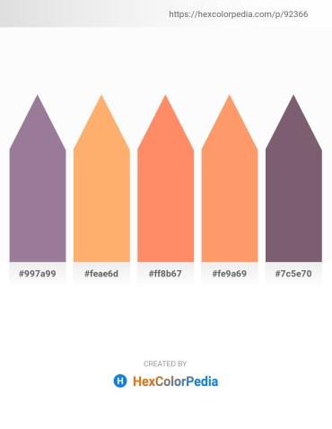 Palette image download - Gray – Light Salmon – Salmon – Light Salmon – Dim Gray