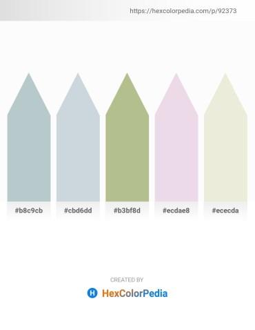 Palette image download - Light Steel Blue – Light Steel Blue – Dark Sea Green – Thistle – Beige