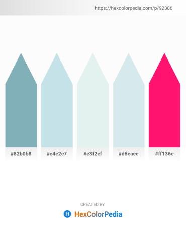 Palette image download - Cadet Blue – Powder Blue – Powder Blue – Powder Blue – Deep Pink