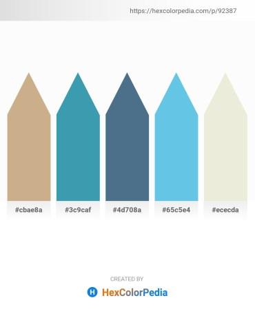 Palette image download - Tan – Steel Blue – Dark Olive Green – Sky Blue – Beige