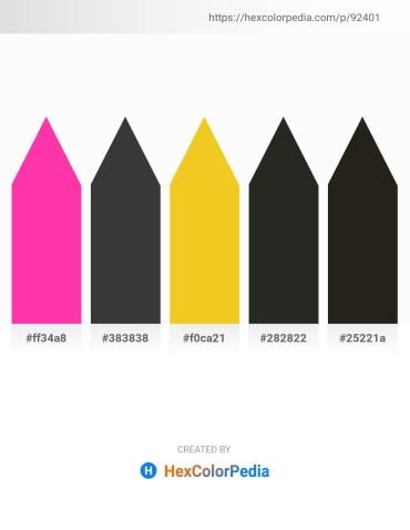 Palette image download - Deep Pink – Dim Gray – Gold – Black – Black