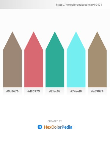 Palette image download - Rosy Brown – Pale Violet Red – Light Sea Green – Sky Blue – Rosy Brown