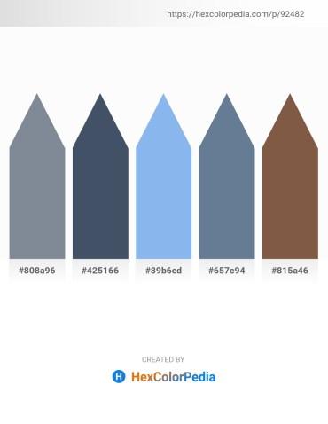 Palette image download - Light Slate Gray – Dark Slate Gray – Sky Blue – Slate Gray – Light Slate Gray