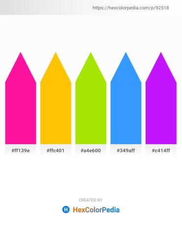 Palette image download - Deep Pink – Gold – Chartreuse – Dodger Blue – Dark Violet