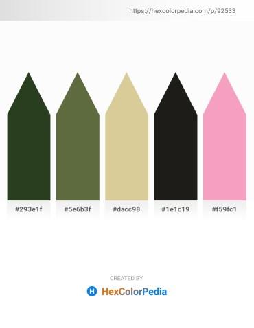 Palette image download - Dark Olive Green – Dark Olive Green – Tan – Black – Violet