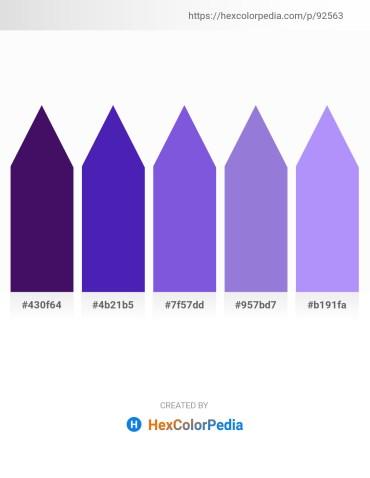 Palette image download - Midnight Blue – Blue Violet – Medium Purple – Medium Purple – Medium Slate Blue