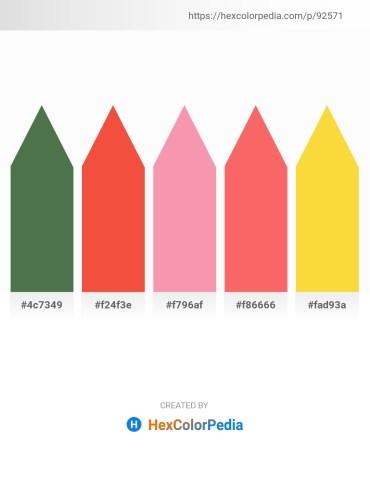 Palette image download - Dark Olive Green – Tomato – Light Coral – Salmon – Gold