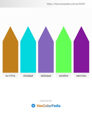Palette image download - Chocolate – Dark Turquoise – Slate Blue – Green Yellow – Dark Orchid