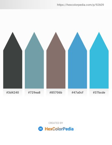 Palette image download - Dark Slate Gray – Cadet Blue – Gray – Cornflower Blue – Turquoise