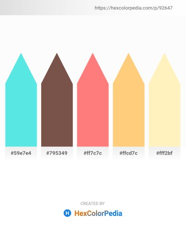 Palette image download - Turquoise – Dim Gray – Salmon – Dark Slate Gray – Lemon Chiffon