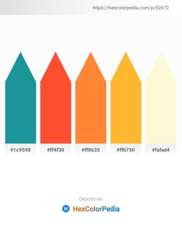 Palette image download - Light Sea Green – Tomato – Coral – Orange – Light Goldenrod Yellow