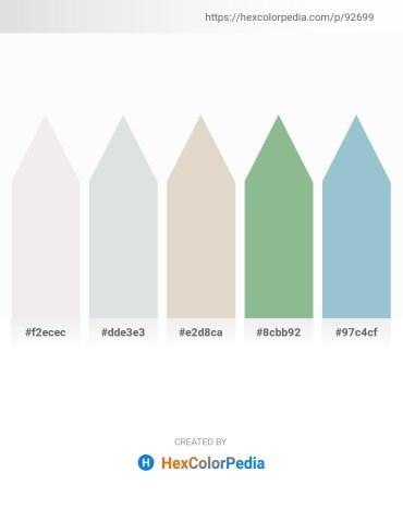 Palette image download - White Smoke – Light Steel Blue – Dark Salmon – Dark Sea Green – Light Steel Blue