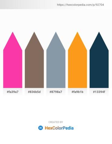 Palette image download - Deep Pink – Dim Gray – Light Slate Gray – Orange – Midnight Blue