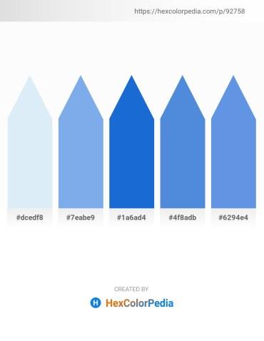 Palette image download - Lavender – Sky Blue – Royal Blue – Royal Blue – Cornflower Blue