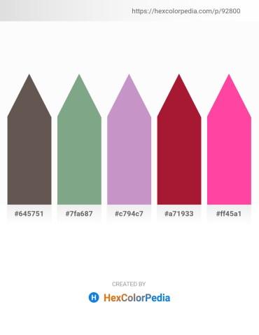Palette image download - Dim Gray – Dark Sea Green – Thistle – Firebrick – Hot Pink
