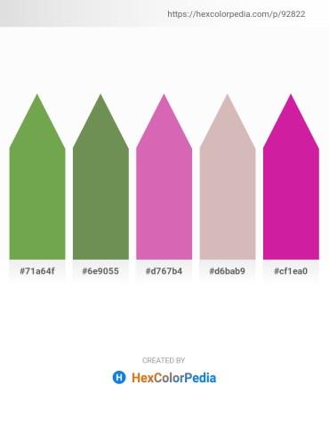 Palette image download - Medium Sea Green – Dark Olive Green – Orchid – Thistle – Medium Violet Red