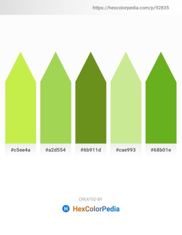 Palette image download - Green Yellow – Yellow Green – Olive Drab – Pale Goldenrod – Olive Drab