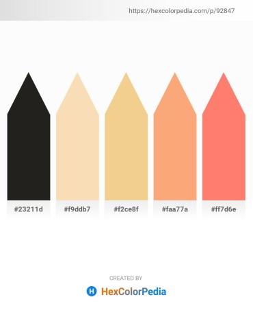 Palette image download - Black – Wheat – Khaki – Light Salmon – Salmon