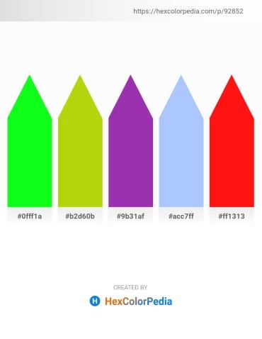 Palette image download - Lime – Chartreuse – Dark Orchid – Light Sky Blue – Red