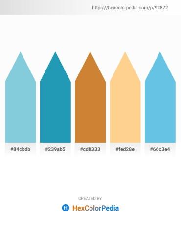 Palette image download - Light Blue – Light Sea Green – Peru – Navajo White – Sky Blue