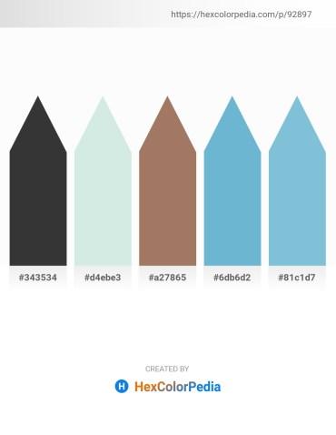 Palette image download - Dark Slate Gray – Powder Blue – Rosy Brown – Tan – Light Blue