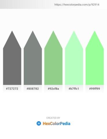Palette image download - Dim Gray – Slate Gray – Dark Sea Green – Pale Green – Pale Green